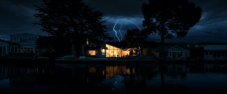 Tesla Powerwall in Storm